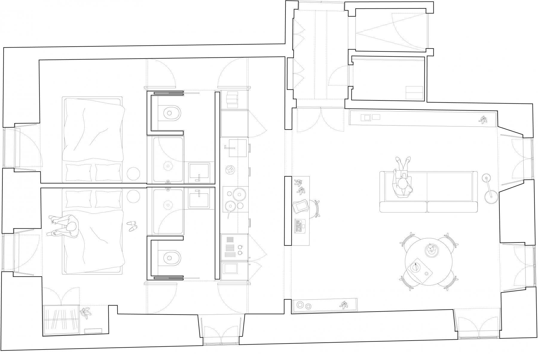 dc ad academia das ciencias architecture plan